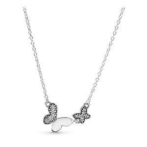 ❤Pandora  Butterfly Silver Necklace